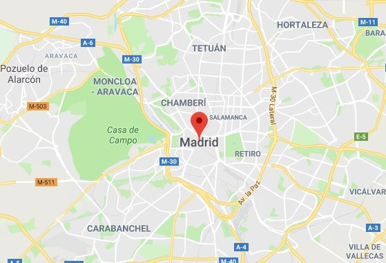 Madrid Map Image | UK Abroad Location Europe Spain Square Image | UK Passport Renewals and applications
